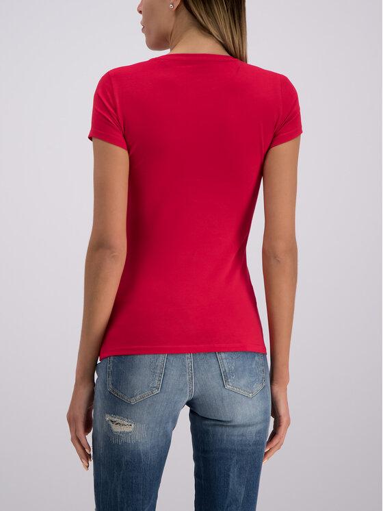 Guess Guess Tričko W93I89 J1300 Červená Slim Fit