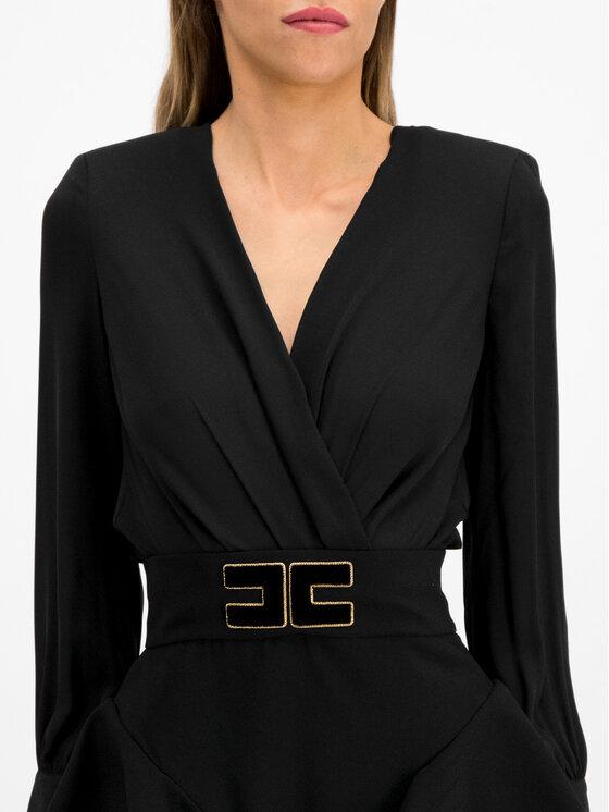 Elisabetta Franchi Elisabetta Franchi Ensemble blouse et jupe AB-909-96E2-V399 Noir Slim Fit