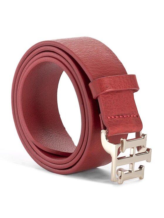 Tommy Hilfiger Tommy Hilfiger Dámsky opasok Th Buckle Belt 3.5 AW0AW04467 75 Červená