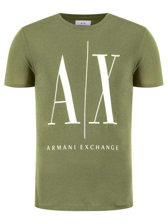 Armani Exchange Armani Exchange Marškinėliai 8NZTPA ZJH4Z 1803 Žalia Regular Fit