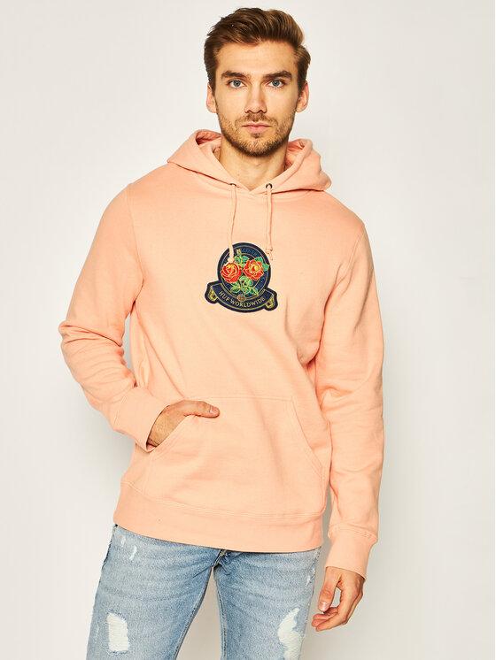 HUF Džemperis Tenderloin Rose Crest PF00211 Oranžinė Regular Fit