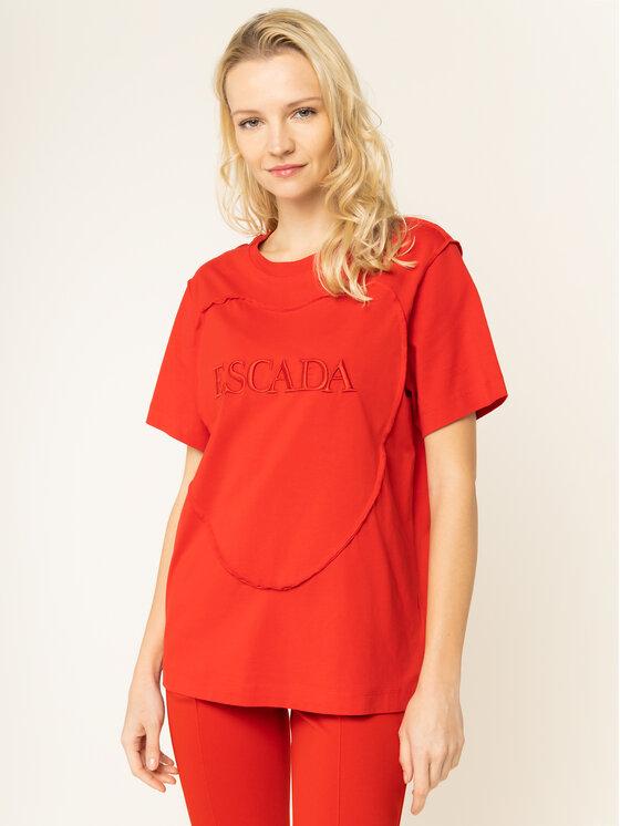 Escada Sport Marškinėliai RITA ORA Eherz 5032171 Raudona Regular Fit