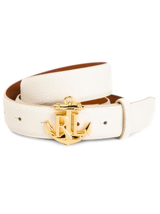 Lauren Ralph Lauren Lauren Ralph Lauren Pasek Damski Anachor Logo Casual 412736374003 Biały