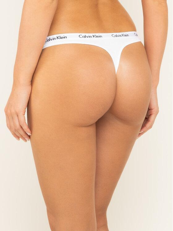 Calvin Klein Underwear Calvin Klein Underwear Stringové nohavičky 0000D1617E Biela