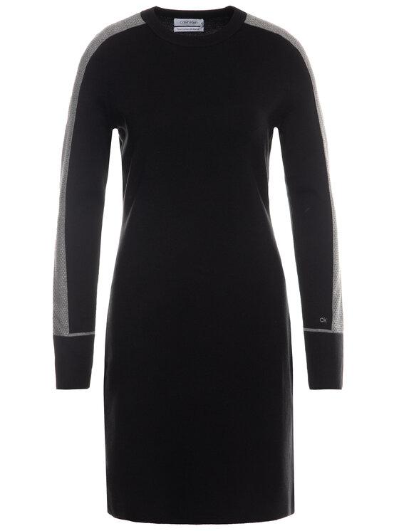 Calvin Klein Calvin Klein Плетена рокля K20K201726 Черен Regular Fit