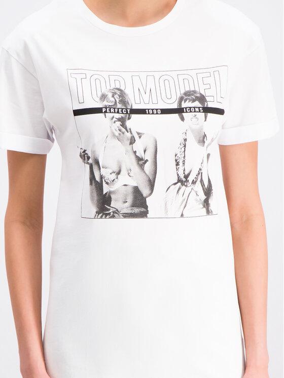 Silvian Heach Silvian Heach T-shirt Benadda CVP19248TS Blanc Regular Fit
