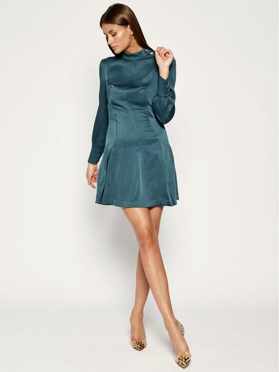 Marciano Guess Marciano Guess Sukienka koktajlowa 94G798 9205Z Zielony Regular Fit