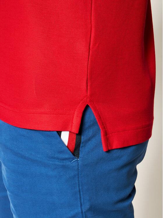 TOMMY HILFIGER TOMMY HILFIGER Pólóing Premium Pique MW0MW12569 Piros Slim Fit