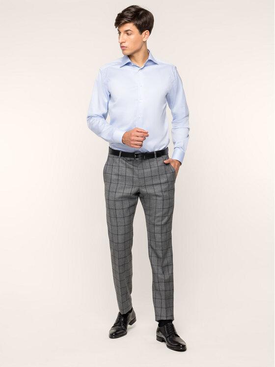 Eton Marškiniai 100000067 Mėlyna Regular Fit