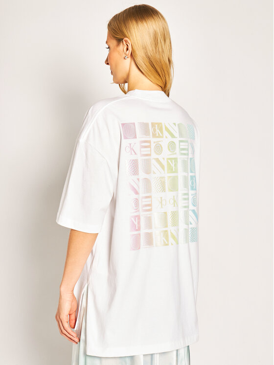 Calvin Klein Jeans Calvin Klein Jeans T-shirt Oversized Graphic Logo J20J213774 Bianco Oversize