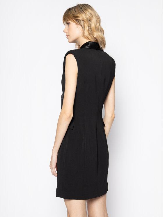 Manila Grace Manila Grace Коктейлна рокля A083PU Черен Regular Fit