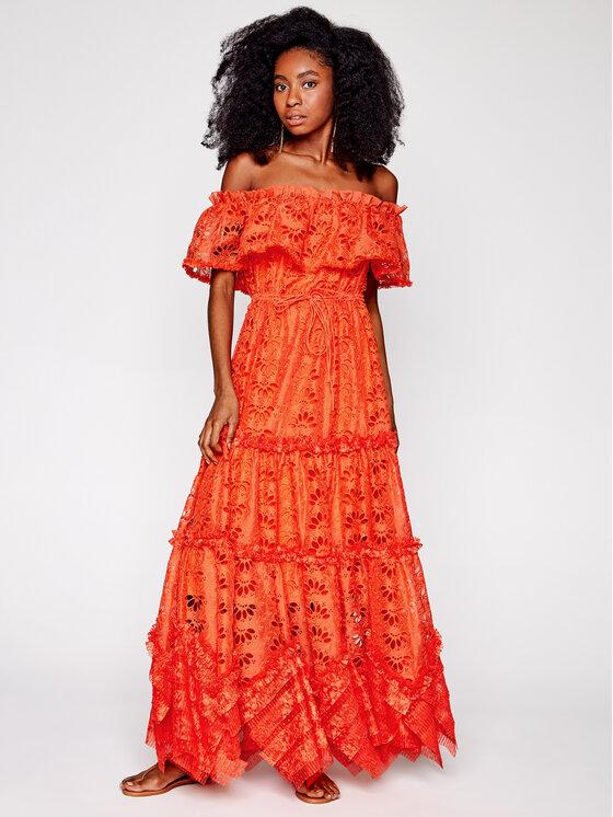 IXIAH Vasarinė suknelė IX22-80498 Oranžinė Regular Fit