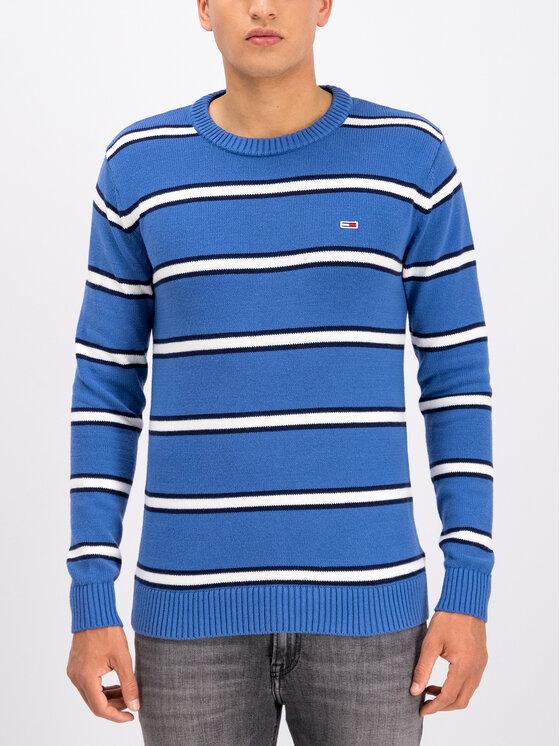 Tommy Jeans Tommy Jeans Sveter Tjm Fine DM0DM07001 Modrá Regular Fit