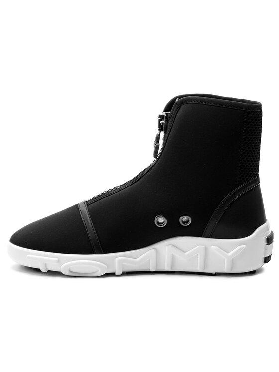 Tommy Hilfiger Tommy Hilfiger Botki Gigi Hadid Neoprene Boot Sneaker FW0FW02849 Czarny