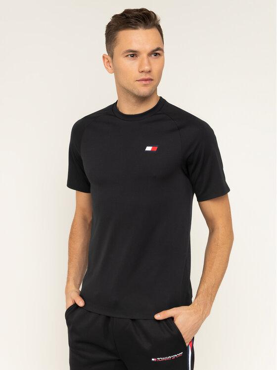 Tommy Sport Tommy Sport T-Shirt Back Logo S20S200267 Μαύρο Regular Fit