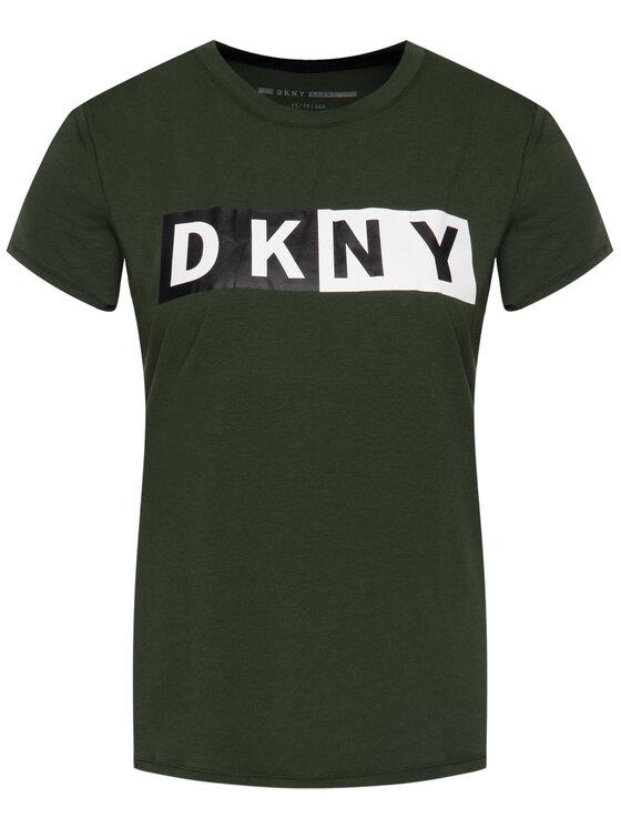 DKNY Sport DKNY Sport Тишърт DP9T5894 Зелен Regular Fit