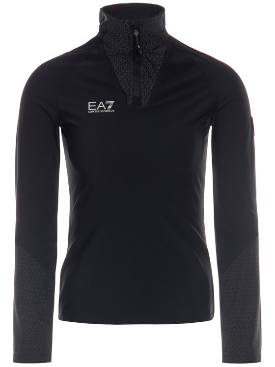 EA7 Emporio Armani EA7 Emporio Armani Μπλούζα 6GTM18 TJ46Z 1200 Μαύρο Slim Fit