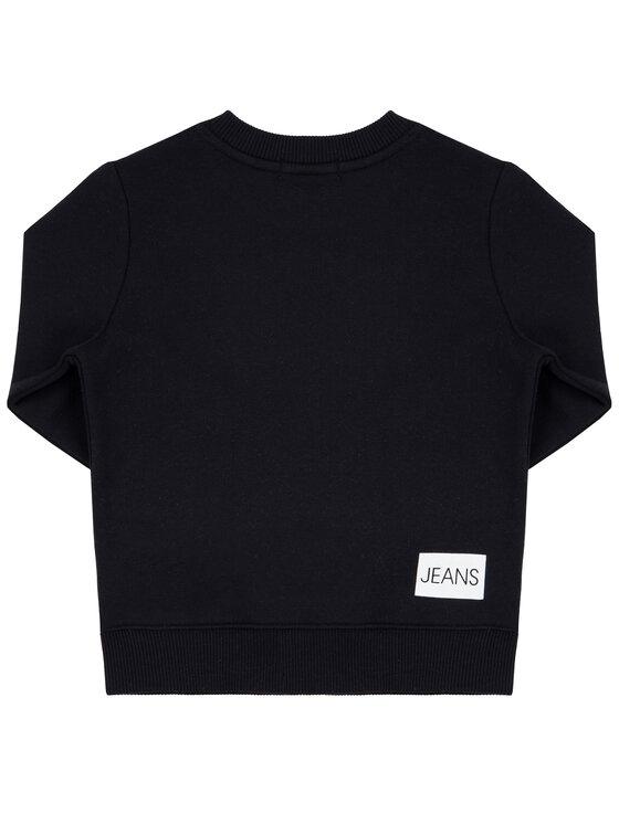 Calvin Klein Jeans Calvin Klein Jeans Pulóver Institutional IU0IU00040 Fekete Regular Fit