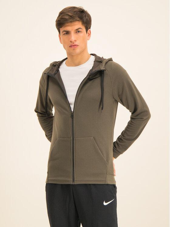 Nike Bluza Dry Hoodie Fz Fleece 860465 Zielony Standard Fit