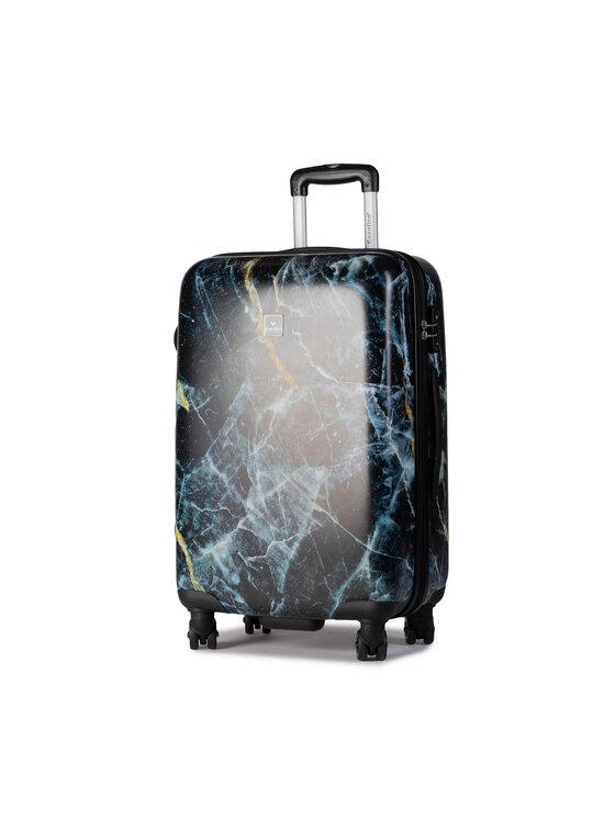 Saxoline Vidutinio Dydžio Kietas Lagaminas Marble 1439H0.60.10 Juoda