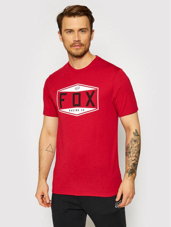 Fox Racing Marškinėliai Emblem 26972 Raudona Regular Fit