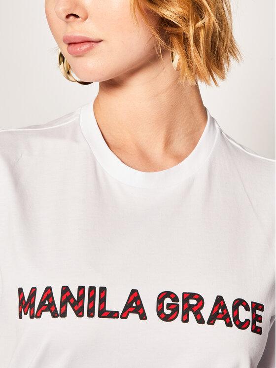 Manila Grace Manila Grace T-Shirt T169CU Bílá Regular Fit