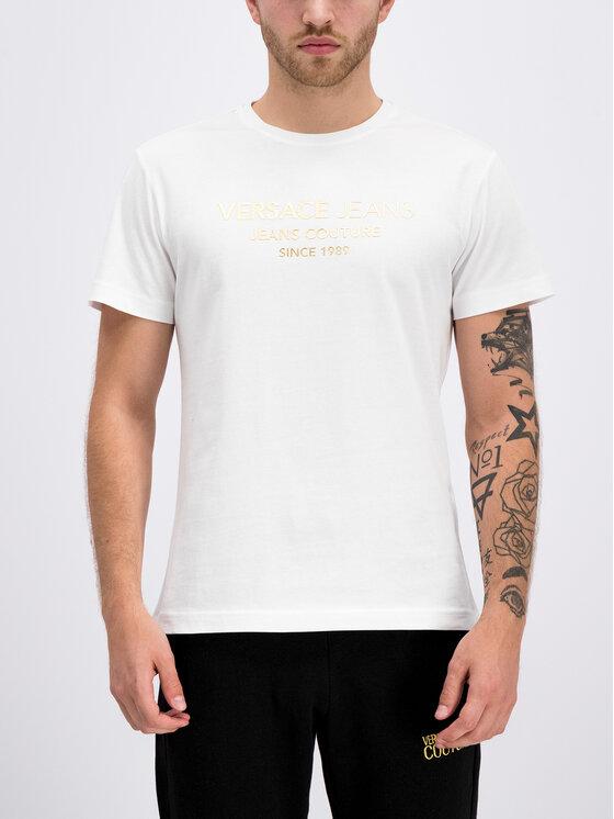 Versace Jeans Versace Jeans T-shirt B3GTB73E Bianco Slim Fit