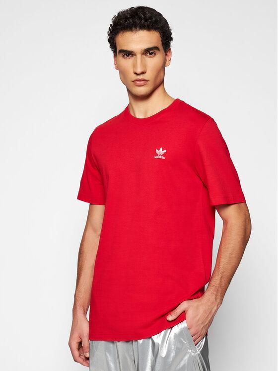 adidas Marškinėliai Essential GN3408 Raudona Regular Fit
