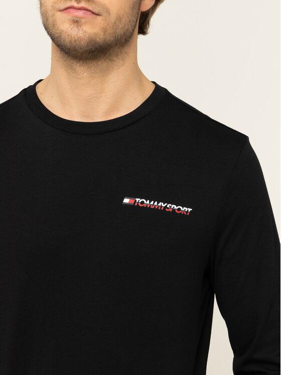 Tommy Sport Tommy Sport S dlouhým rukávem S20S200313 Černá Regular Fit