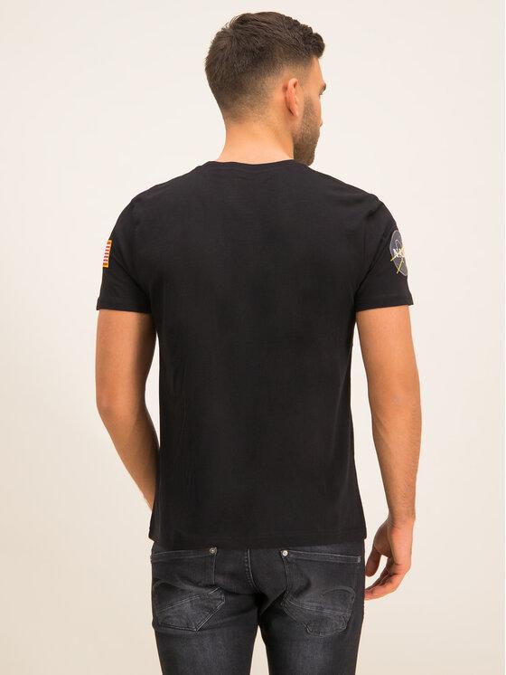 Alpha Industries Alpha Industries T-Shirt Nasa 176506 Černá Regular Fit