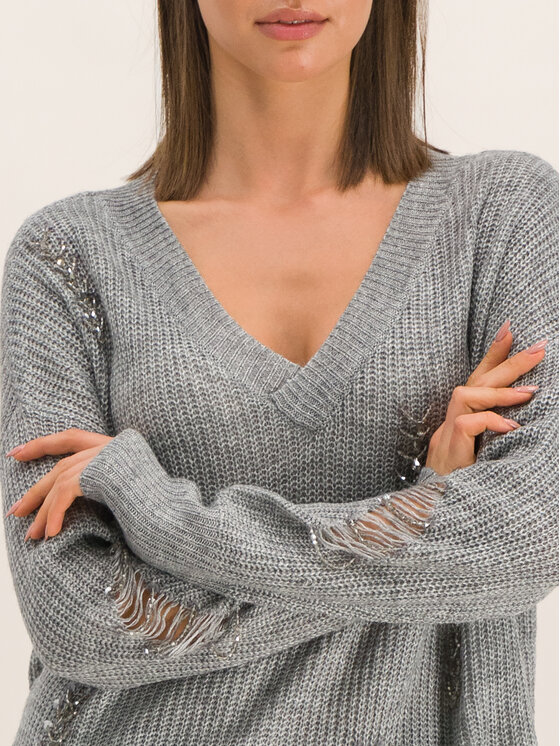 Guess Guess Sweter W94R0T Z2IT0 Szary Regular Fit