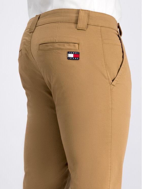 Tommy Jeans Tommy Jeans Medžiaginės kelnės Scanton DM0DM06518 Smėlio Slim Fit