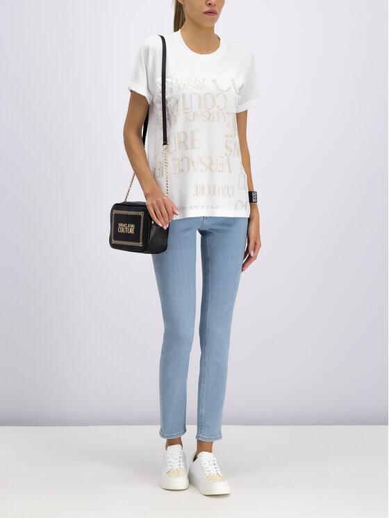 Versace Jeans Couture Versace Jeans Couture T-Shirt B2HUA7EG Biały Regular Fit
