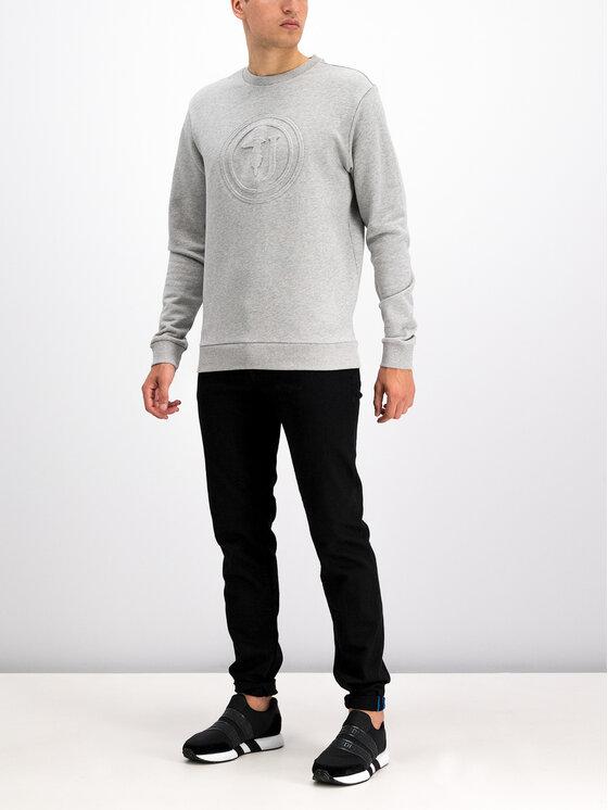 Trussardi Trussardi Felpa Round Neck Cotton Fleece 52F00084 Grigio Regular Fit
