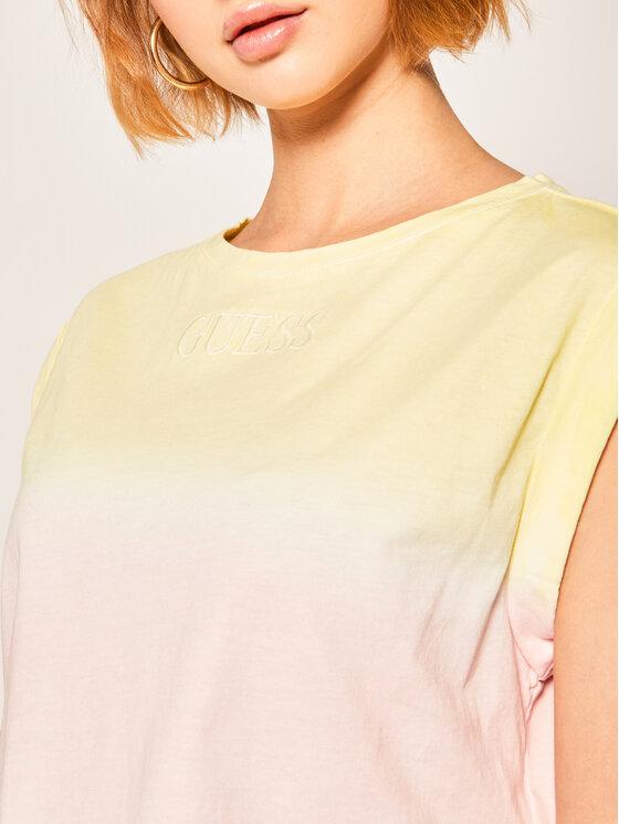 Guess Guess T-Shirt Sunrise W0GI85 K8HM0 Έγχρωμο Regular Fit
