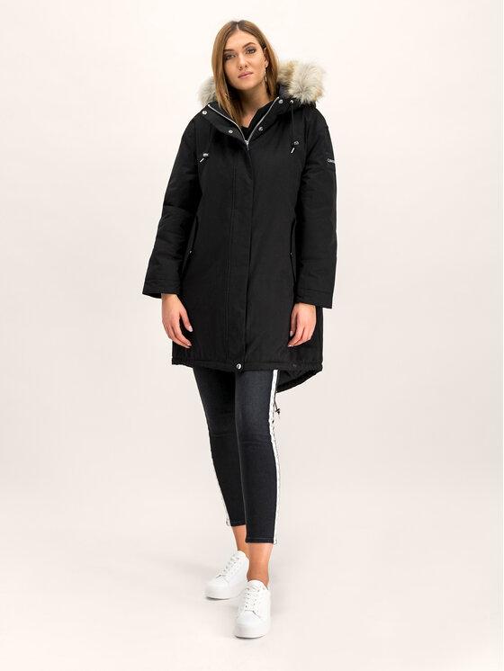 Calvin Klein Calvin Klein Парка Peached Down K20K201191 Черен Regular Fit