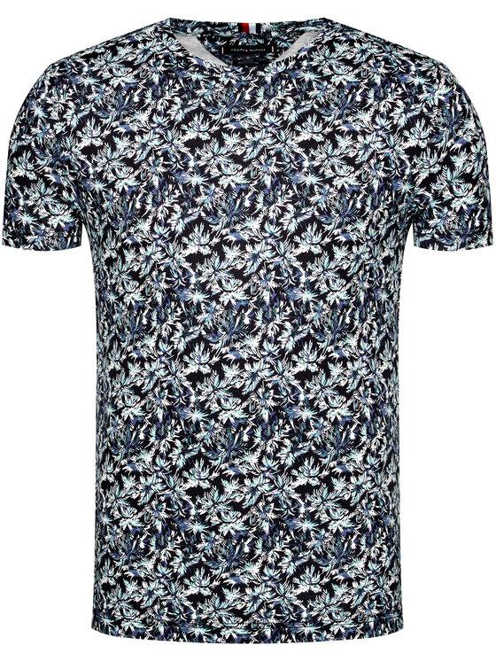 Tommy Hilfiger Tommy Hilfiger T-Shirt All Over Leaf Print MW0MW13758 Σκούρο μπλε Regular Fit