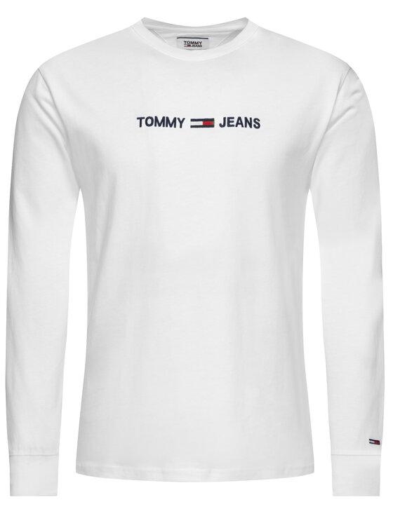 Tommy Jeans Tommy Jeans Тениска с дълъг ръкав Smal Logo DM0DM07190 Бял Regular Fit