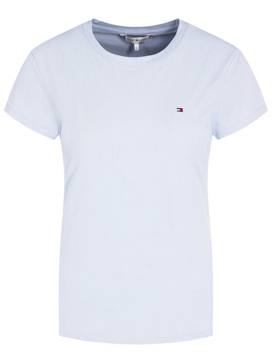 TOMMY HILFIGER TOMMY HILFIGER T-Shirt ZA Classic C-NK WW0WW27740 Modrá Regular Fit