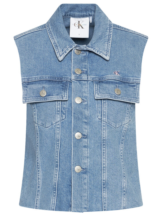 Calvin Klein Jeans Calvin Klein Jeans Елек Woven J20J217224 Син Regular Fit