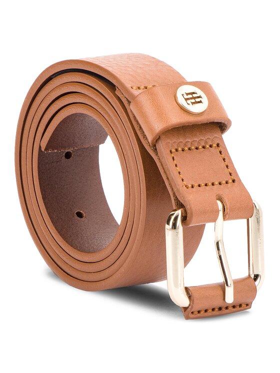 TOMMY HILFIGER TOMMY HILFIGER Дамски колан Leather Covered Buck AW0AW05889 Кафяв
