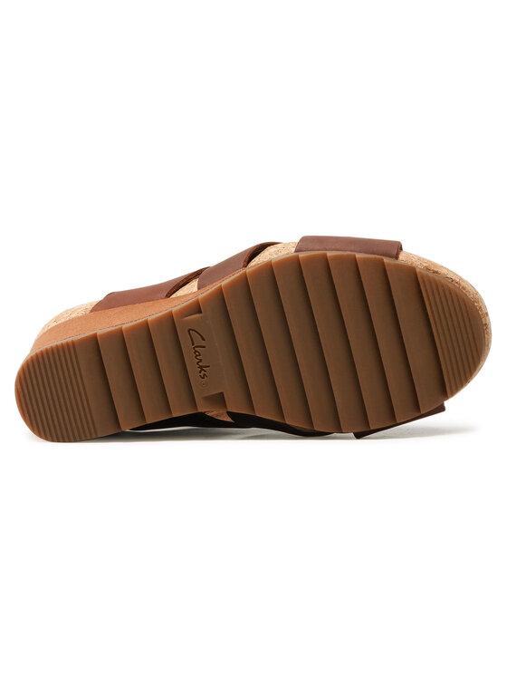 Clarks Clarks Sandały Flex Sand 261504304 Brązowy