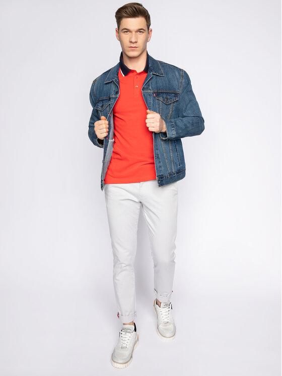 Trussardi Jeans Trussardi Jeans Polo 52T00344 Czerwony Regular Fit