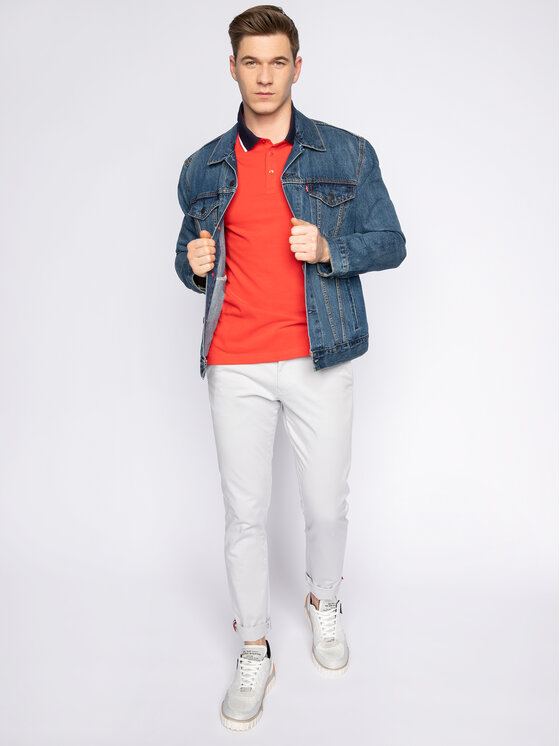 Trussardi Jeans Trussardi Jeans Tricou polo 52T00344 Roșu Regular Fit