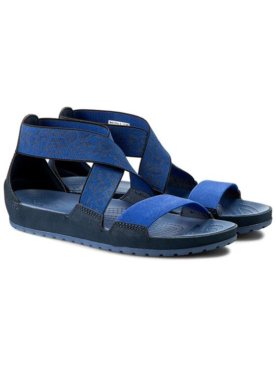 Crocs Crocs Sandales Anna Ankle Strap Sandal 203001 Bleu marine