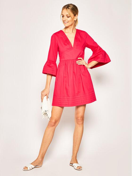 TWINSET TWINSET Každodenní šaty 201TT2072 Růžová Regular Fit