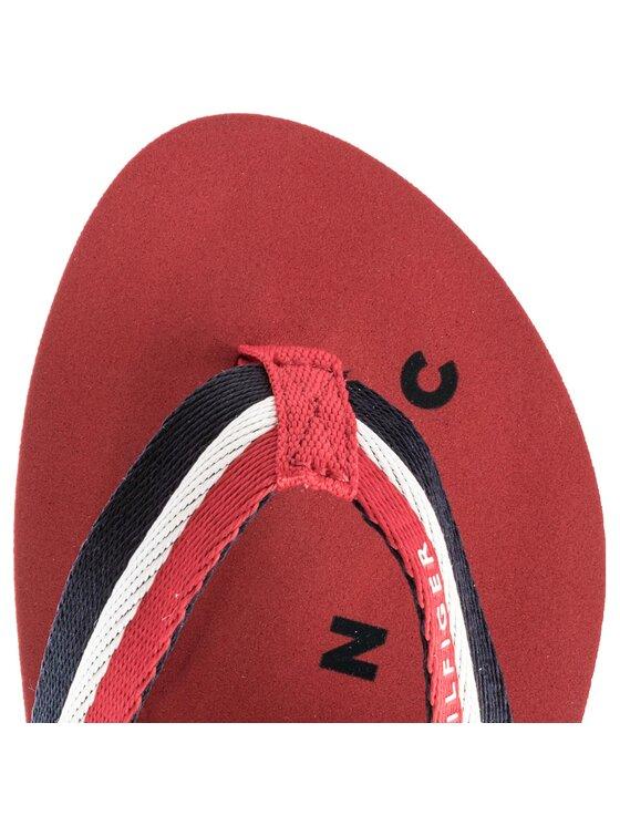 Tommy Hilfiger Tommy Hilfiger Japonki Tommy Loves Ny Beach Sandal FW0FW02370 Czerwony