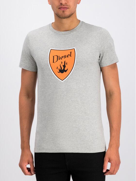 Diesel Diesel T-Shirt T-Diego-B2 00SXMH 0091A Γκρι Regular Fit