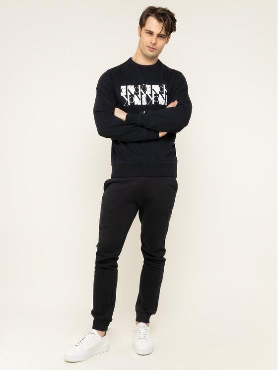 Calvin Klein Jeans Calvin Klein Jeans Sweatshirt Mirrored Monogram J30J314125 Noir Regular Fit