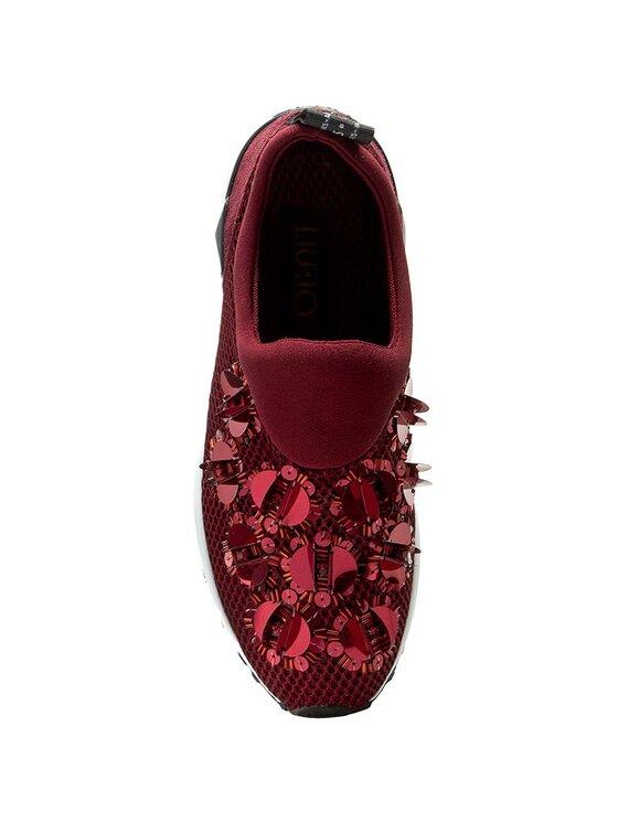 Liu Jo Liu Jo Sneakersy Scarpa Donna Tess. F.Do Gomma S66061 J9038 Bordó